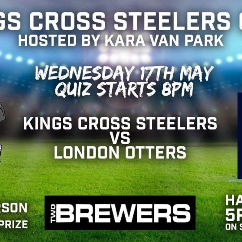 Steelers & Otters Quiz Night: Two Brewers