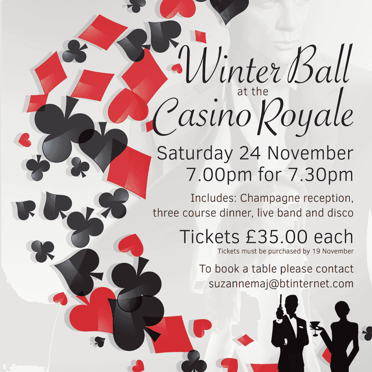 Rugby Ball - Casino Royale    Sat 24th November 2018