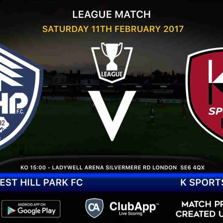 Next home league fixture for Forest Hill....