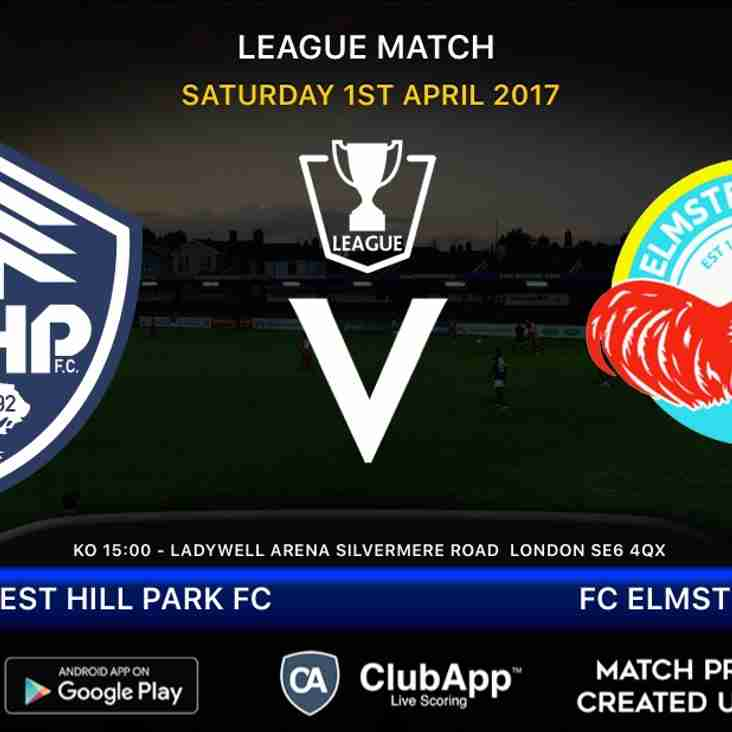 Home league match as visitors FC Elmstead come to Ladywell Arena....