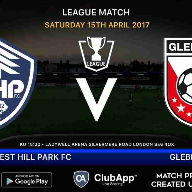 Forest Hill host champions-elect Glebe at Ladywell Arena Saturday 15th April 3pm ko