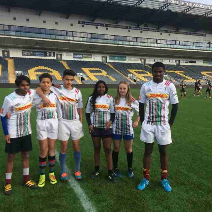 Streatham-Croydon juniors help to Harlequins finish 3rd in the Premiership Urban Rugby Squad Competition