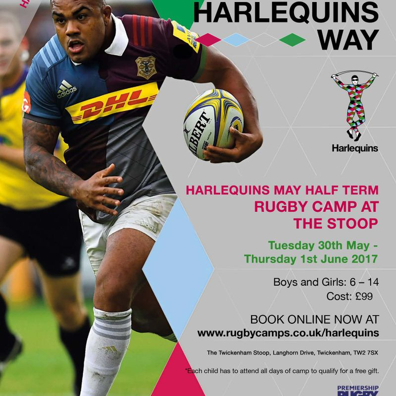 Harlequins May Half Term Rugby Camp