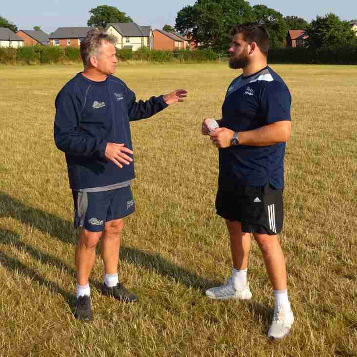 Pre season picking up pace - Jon Callard coaching this week.