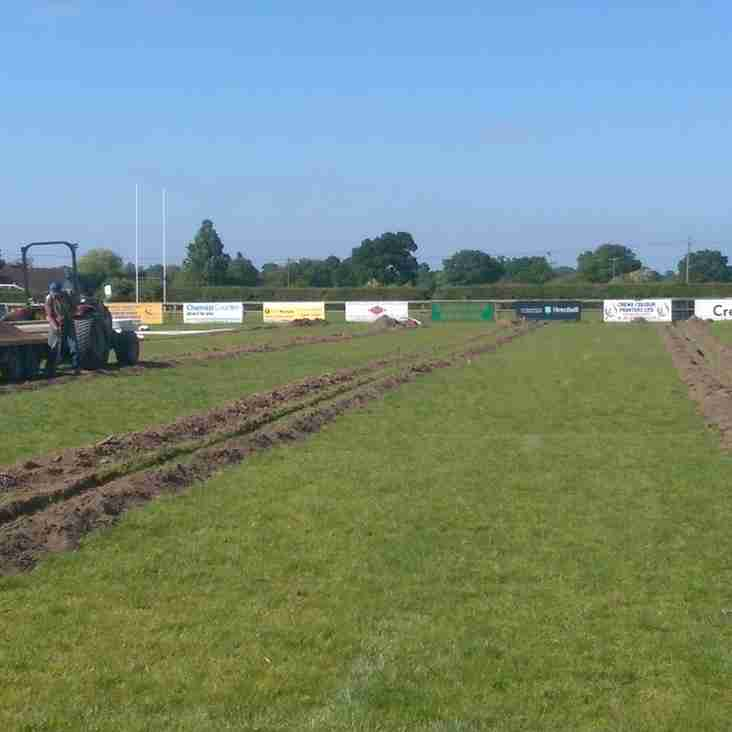 Pitch Improvements have started