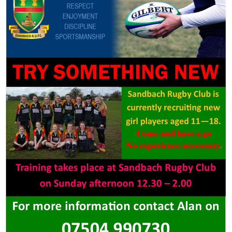Calling all girls 11-18 to try out rugby