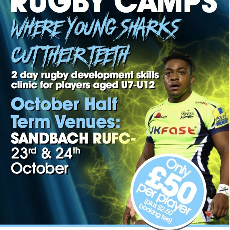 Sale Sharks Rugby Camp at Sandbach - October 23rd and 24th October