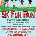 Family 5k fun run on Saturday mornings starts 21st April 9am