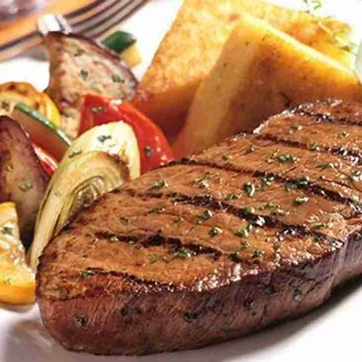 Burger and steak night now every Wednesday at the club