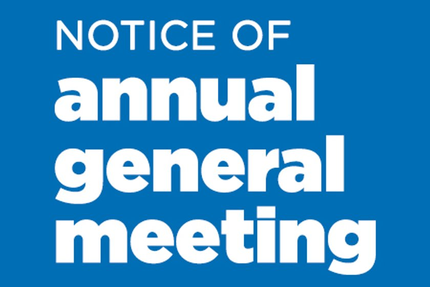 Notice of AGM 21st May 7pm at the club