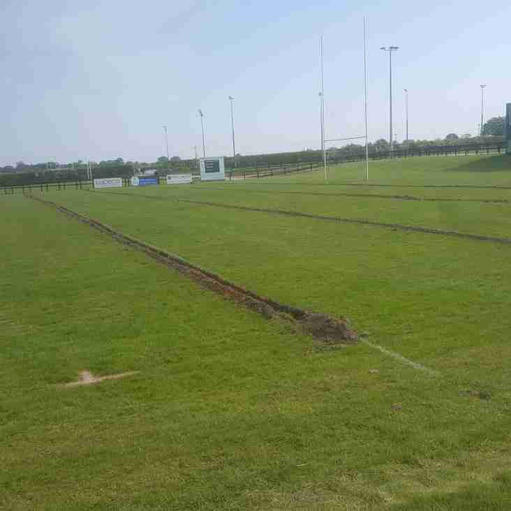 Main pitch drainage improvements have started