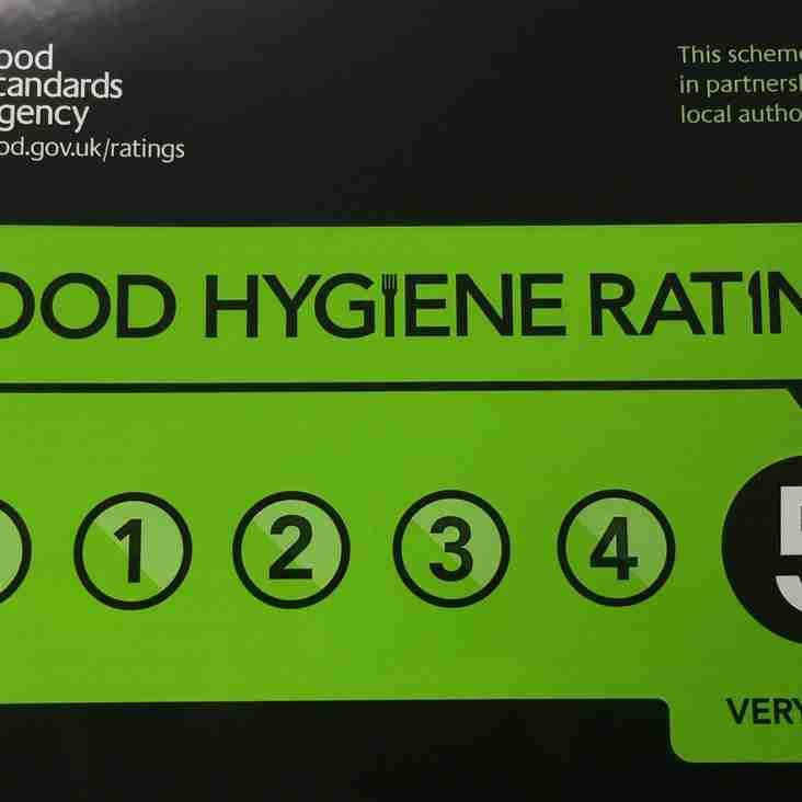 Club kitchen gets top hygiene rating