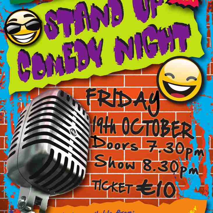 The Legendary Comedy Night is back - October 19th