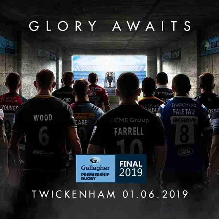 Watch the Premiership Final June 1st at the club