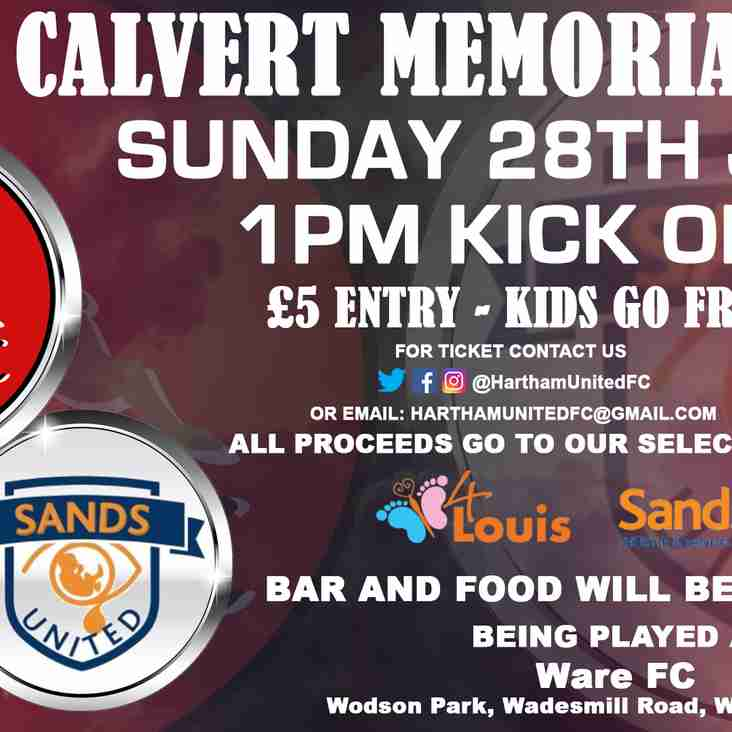 Alfie Calvert Memorial Cup 28 July 2019