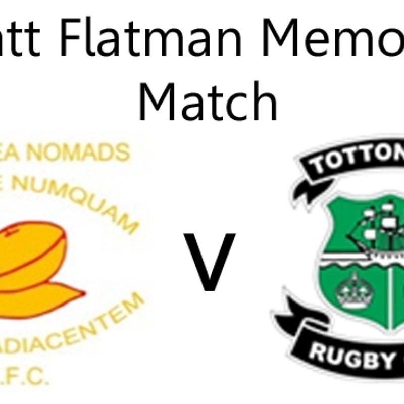 Back to back victories in the Matt Flatman Memorial Match