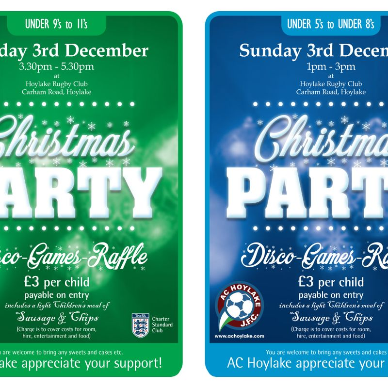 AC Hoylake Christmas Parties (AMENDED DATES!)