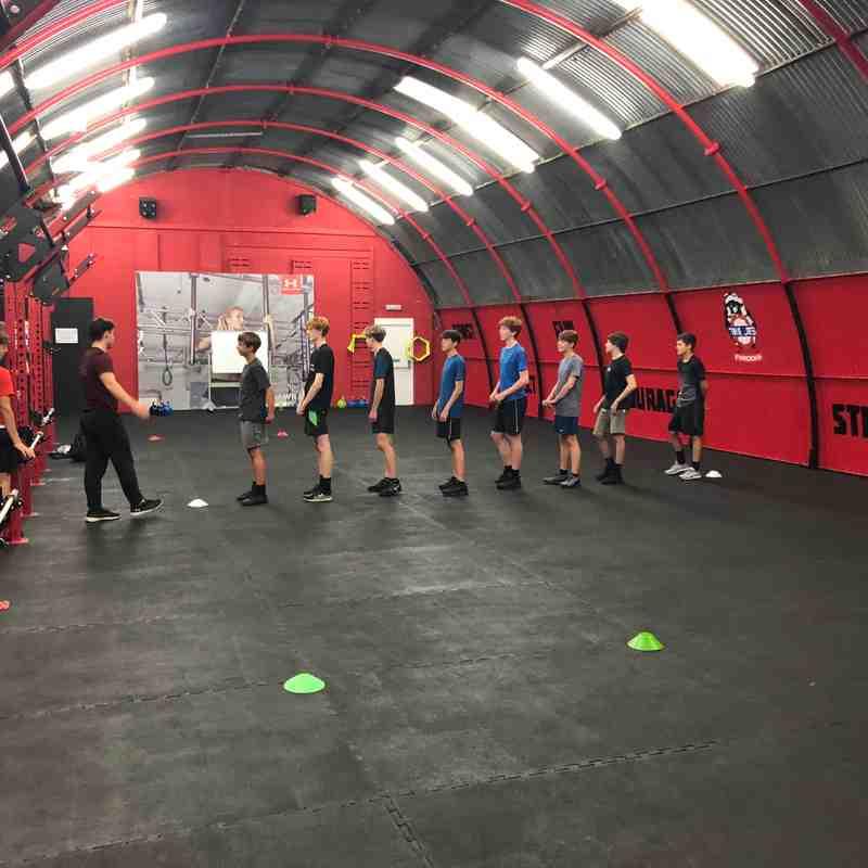 Chris's U16s Meteors gym visit to UTS 2018/19