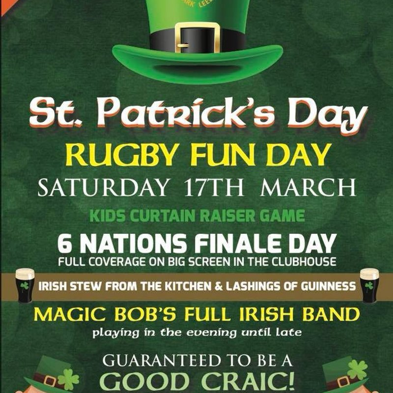 St Partrick's Day Shenanigans - Saturday 17th March 2018