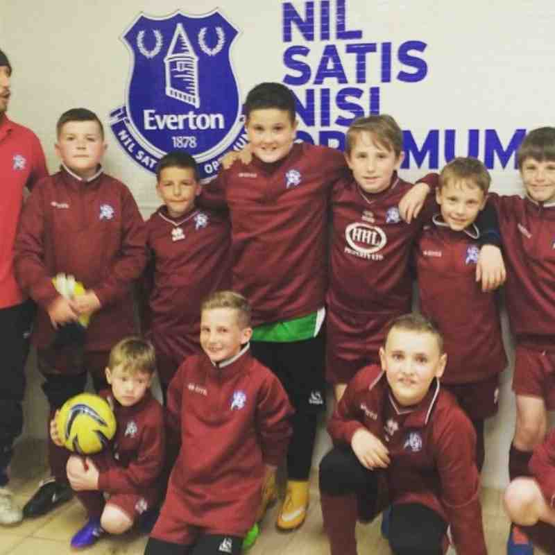 Under 10's at Goodison Park May 2015