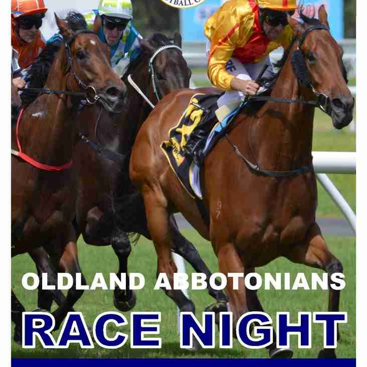 It's Race Night This Saturday