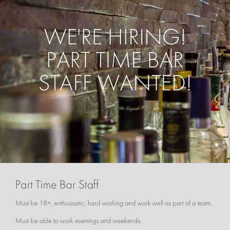Bar Staff/Cleaner Needed