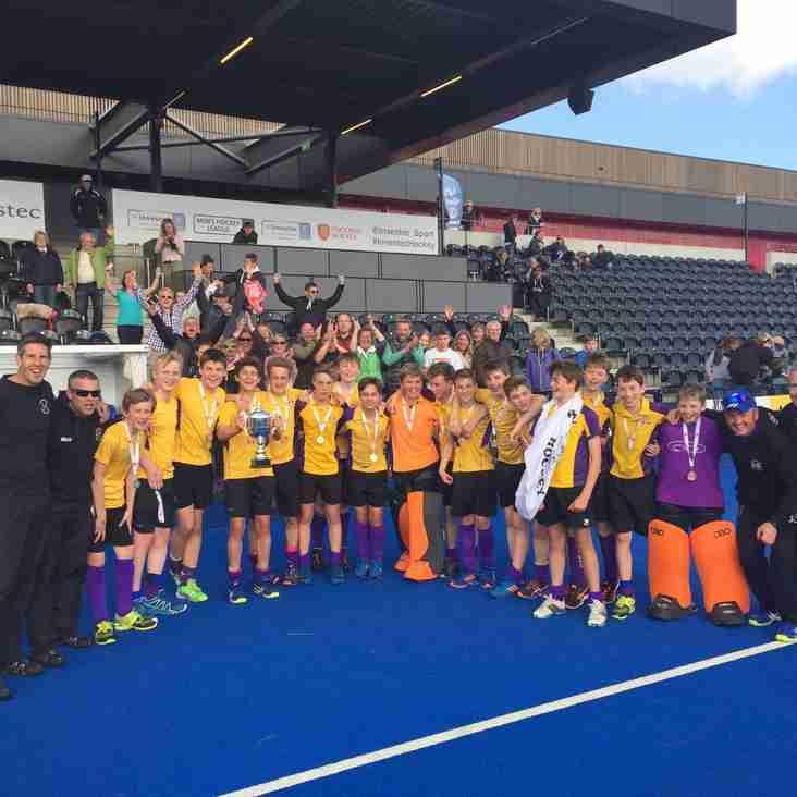 u14 Boys are England Hockey Cup National Champions