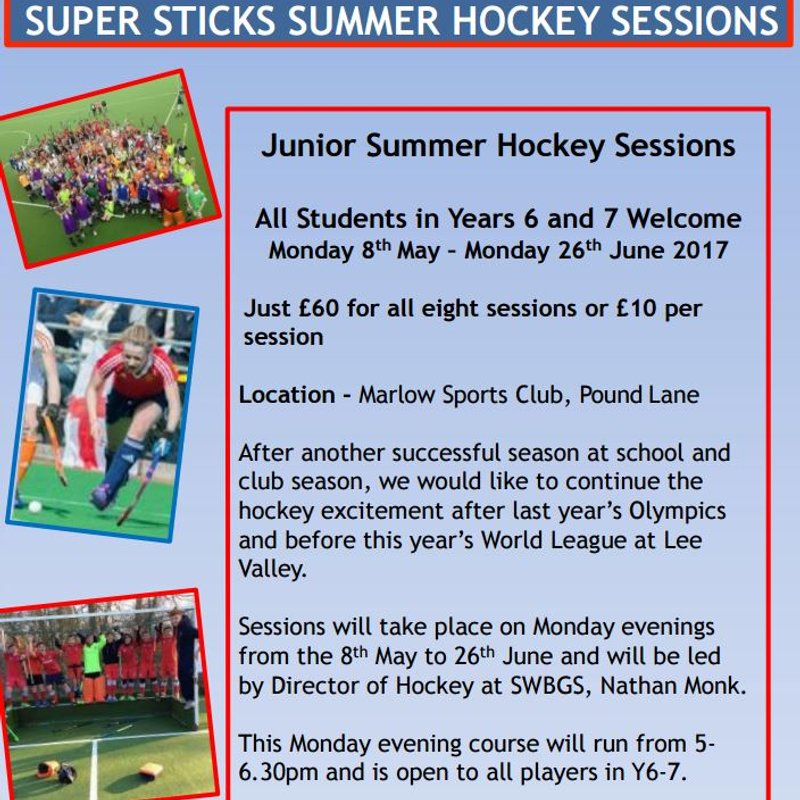 Year 6 and 7 pupils - Monday training with Supersticks at MHC