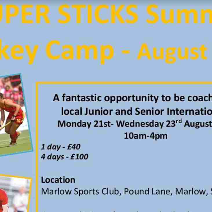 SUPER STICKS IS BACK!! Summer 2017 - Hockey for Years 3 to 9