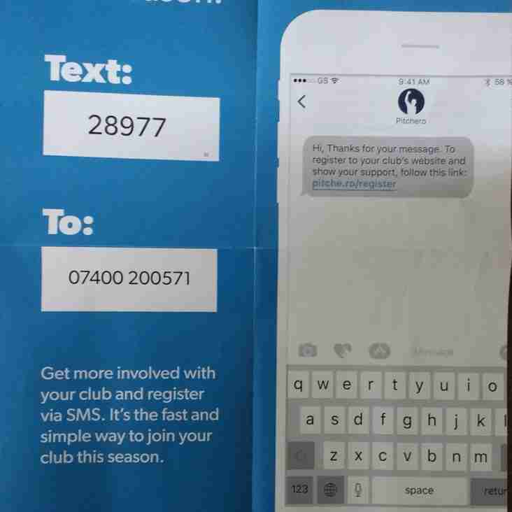 MHC are using SMS to register their membership