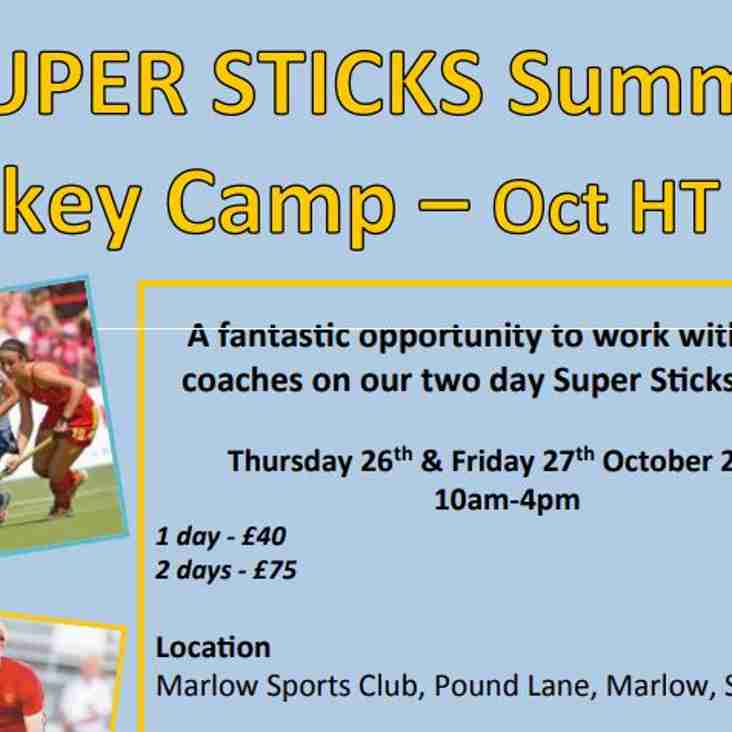 October Super Sticks Half Term 2017 - Year3 to Year 9