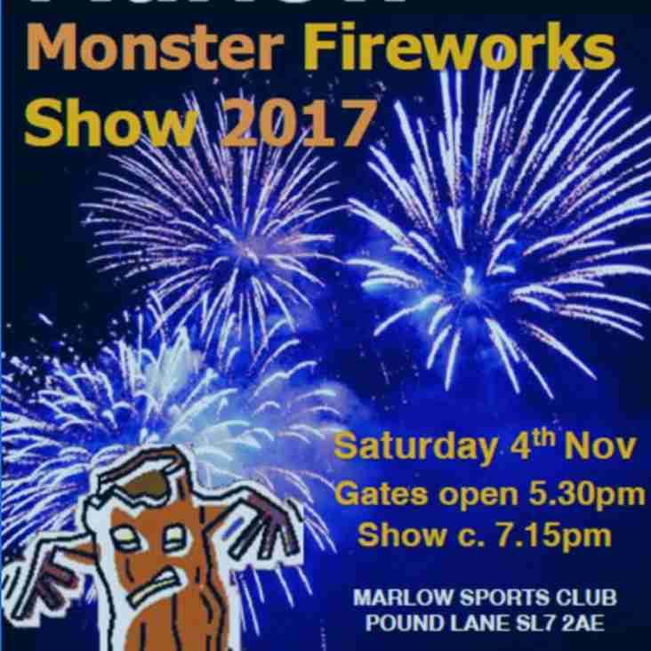 Monster MSC Fireworks Saturday 4th November