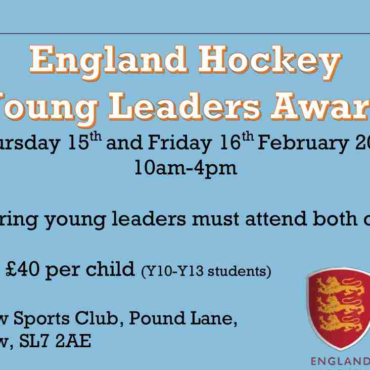 MHC Young Leader Course - Thurs 15th and Fri 16th Feb - Year 10 to 13