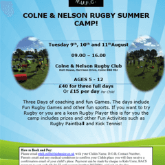 Colne and Nelson Summer Camp