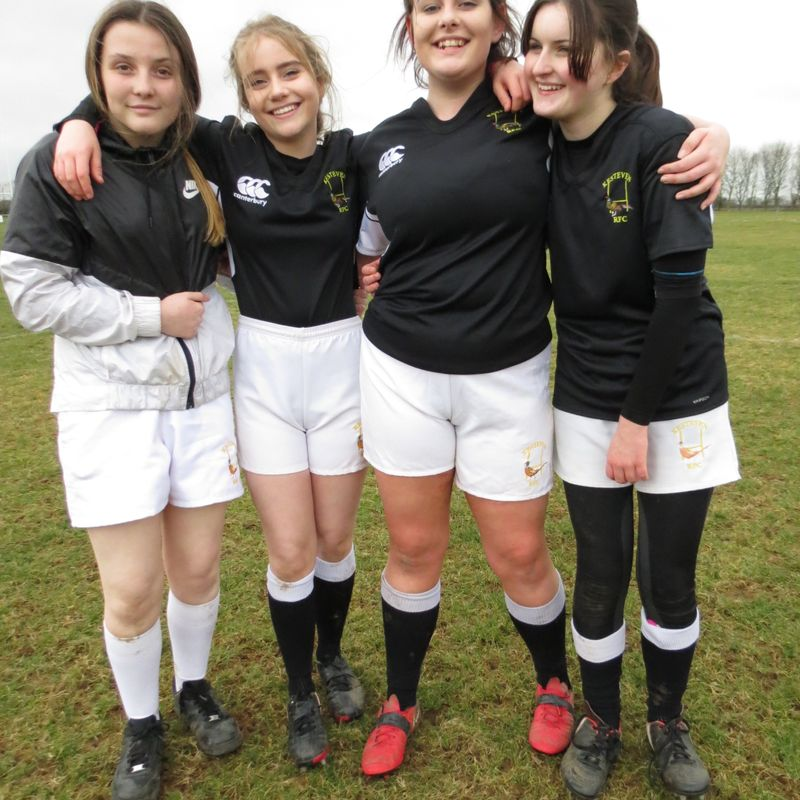 U15 girls rugby at Woodnook