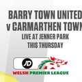 Barry Town United vs. Carmarthen Town