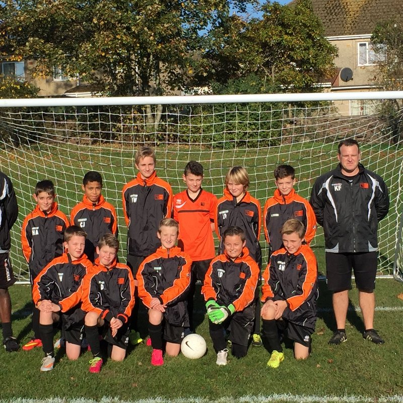 Under 12 Eagles - 2015/16 lose to St Nicholas Green 1 - 7