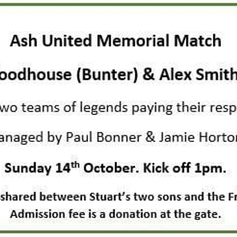 Ash United Memorial Match