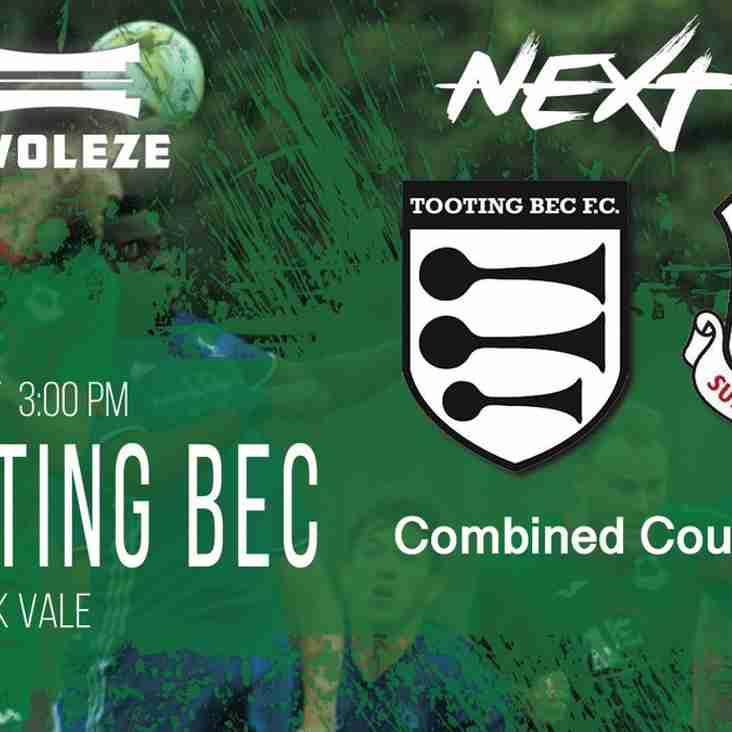 1st Team Away to Tooting Bec Sat 27 Oct 2018