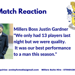 Match Reaction: Gardner on 2-0 victory at Dereham