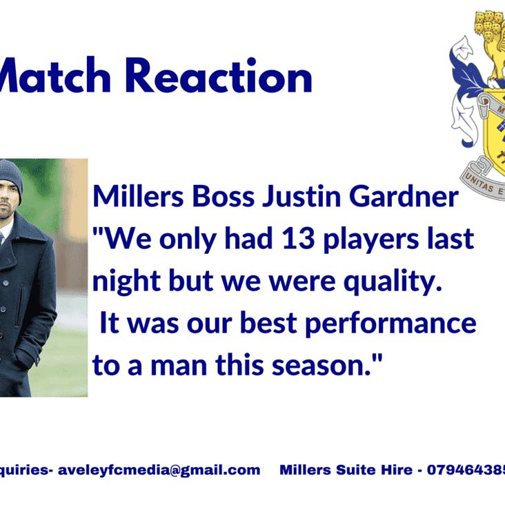 Match Reaction: Gardner on 2-0 victory at Dereham
