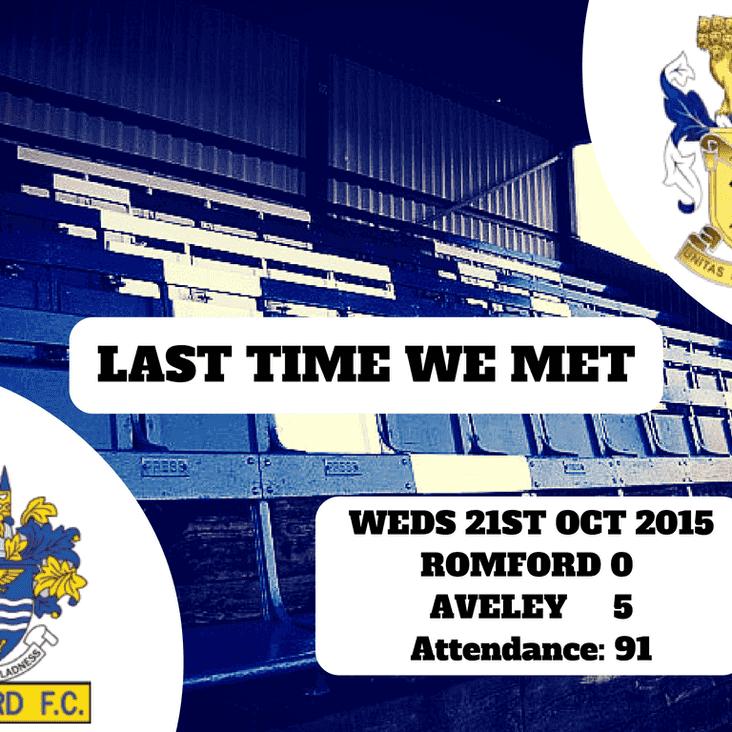Last Time We Met: Romford 0-5 Aveley