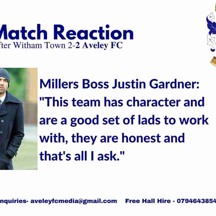 Match Reaction | Gardner on our 2-2 draw at Witham