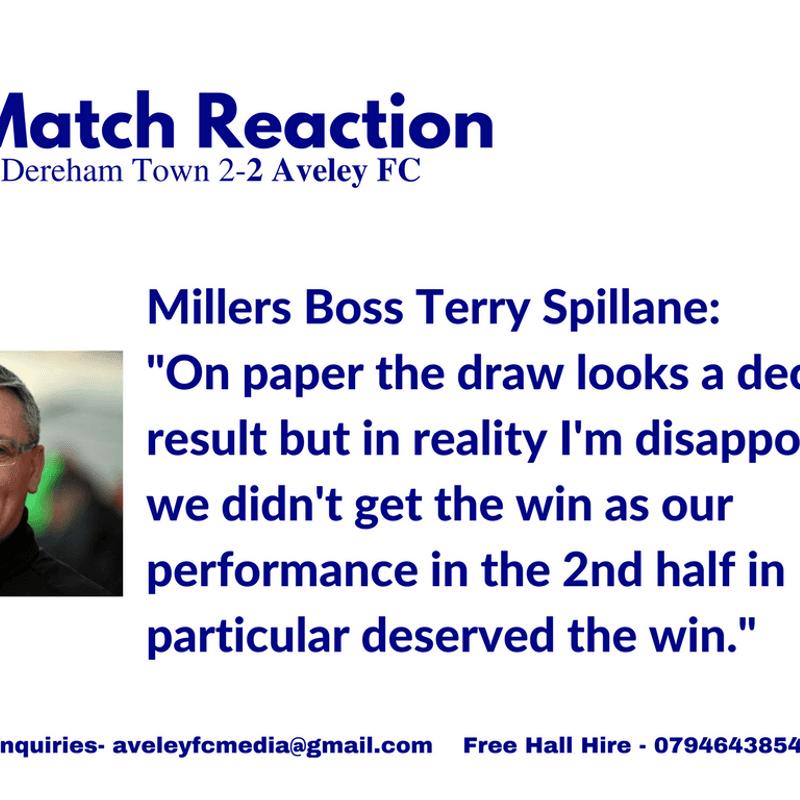 Match Reaction: Dereham 2-2 Millers