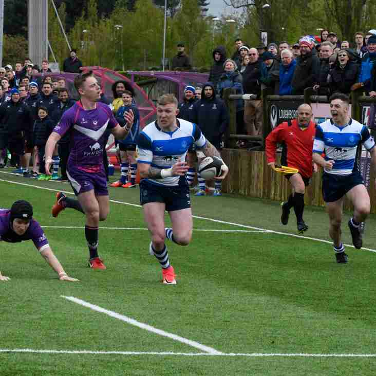 LOUGHBOROUGH STUDENTS RFC  17  v  DMPRFC  24