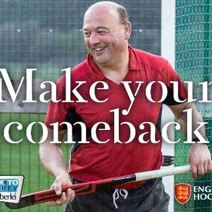 Mixed Back to Hockey is back ! Starting Tuesday 23rd May - 12th July 8.00pm - 9.00pm