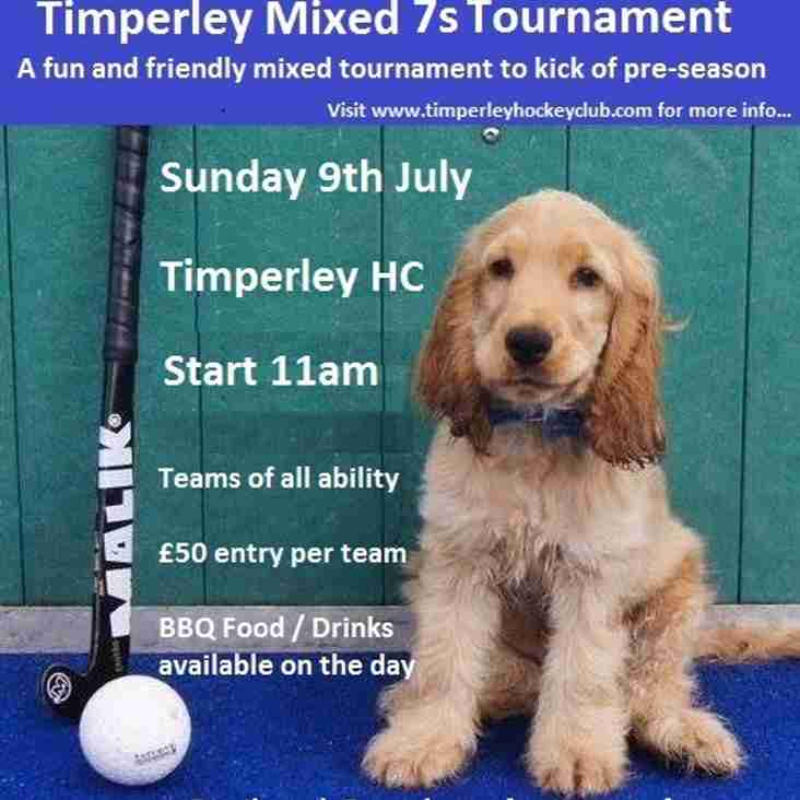 Mixed 7's Tournament - Sunday 9th July 2017