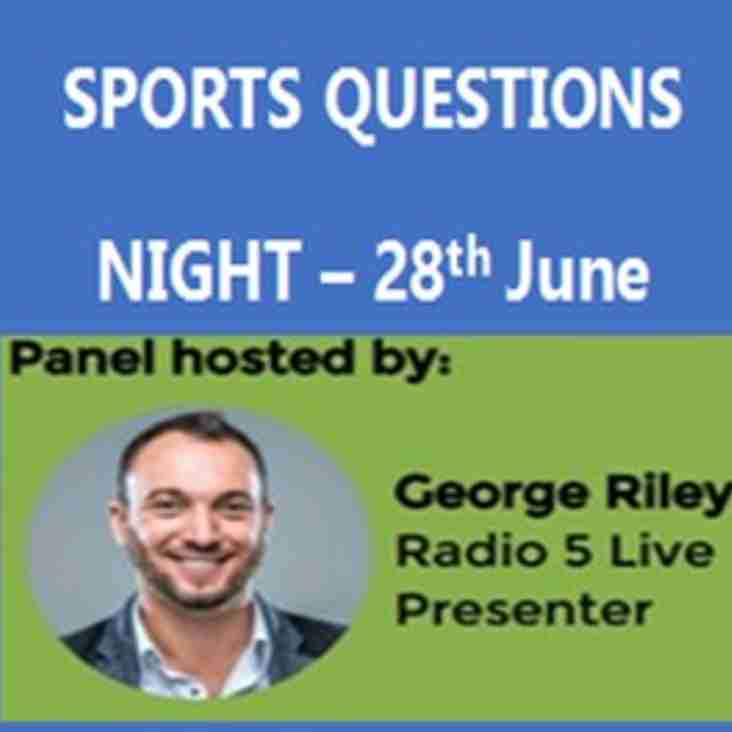 Don't miss TSC's Sporting Questions Evening on 28th June 2017