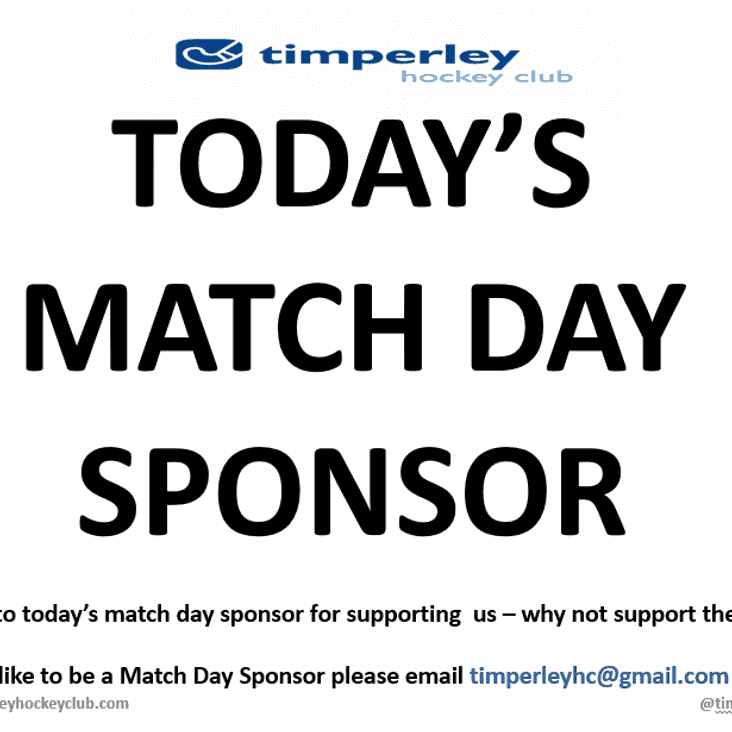 Sign up as a Match Day Sponsor -  Starting Saturday 23rd September 2017 !