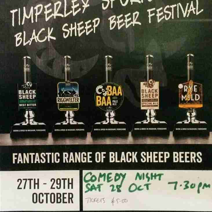 Black Sheep Beer Festival     27th - 29th October 2017